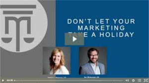 don't let your marketing take a holiday