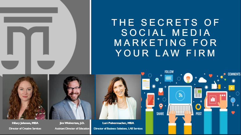 the secrets of social media marketing for your law firm